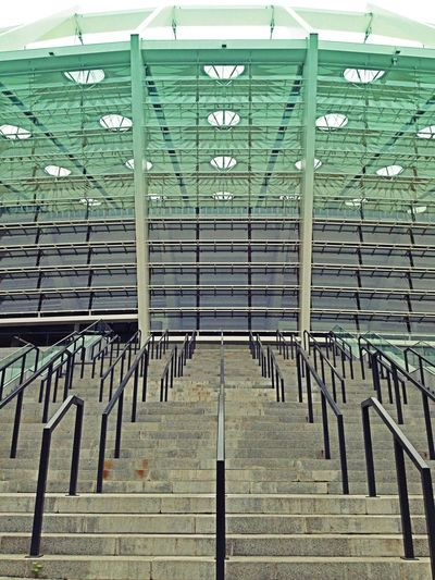 Glass And Steel Concrete Steps Stadium Stadium Architecture Olimpiyskiy Dome Ukraine Kiev Stairs No People Streetphotography