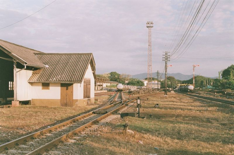 train station Architecture Sky Nature Day Outdoors Technology Track Building Train Station Power Line  Plant Cloud - Sky Train Film