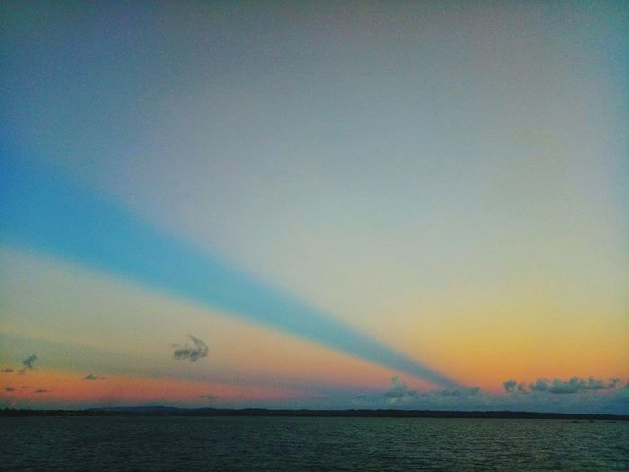 Sea Water Horizon Over Water Sunset Scenics Rainbow Tranquil Scene Outdoors Nature Sky Multi Colored Tranquility Beauty In Nature No People Beach Day Wilmor Latosa Sorsogonprovince Sorsogoncity Sorsogon Beauty In Nature Cloud - Sky Cloud Clouds