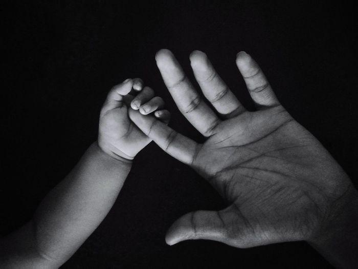 Baby ❤ Precious Queen Bonding Never Let Go! Black Background Close-up
