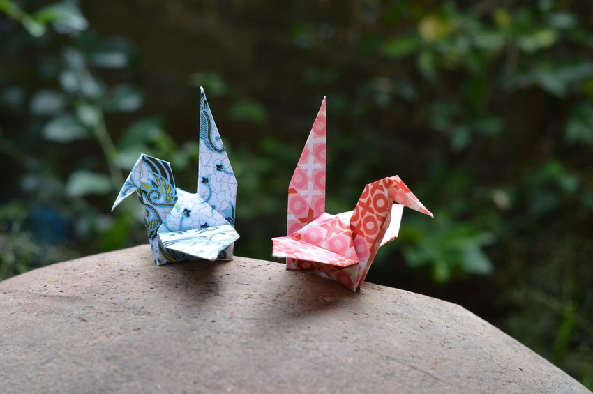 Batik Origami.. No People Day Outdoors Close-up Origami Origamiart Paper Art Paper Birds Batik BatikIndonesia Nature Outdoor Colorful