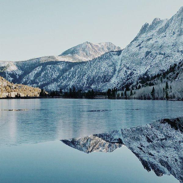 Winter at Silver Lake. Highway395 Highway158 Junelakeloop Silverlake carsonpeak california roadtrip sierras