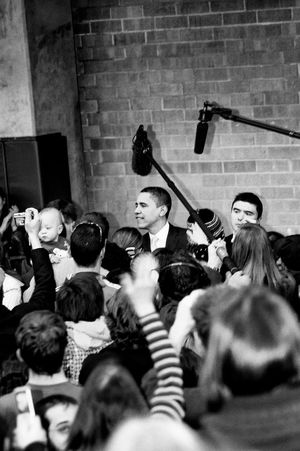 Barack Obama Black & White Crowds Obama Obama 2008 Speech Adult Black And White Black And White Photography Black&white Blackandwhite Blackandwhite Photography Blackandwhitephotography Campaign Crowd Day Indoors  Large Group Of People People Presidential Campaign Real People Stump Speech