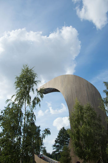 Lithuania Architecture Birzai Built Structure Cloud - Sky Day Growth Low Angle View Nature No People Outdoors Sky Tourism Tower Tree Watchtower