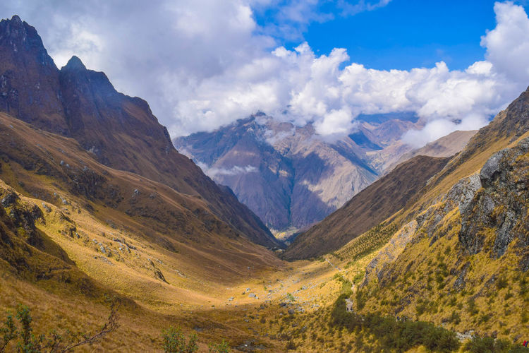 Andean Mountains Cloud - Sky Scenics - Nature Mountain Environment Sky Mountain Range Landscape Beauty In Nature Nature Valley Travel Destinations Land Tranquil Scene Day Travel No People Tranquility Non-urban Scene Remote Tourism Outdoors Mountain Peak Mountain Ridge