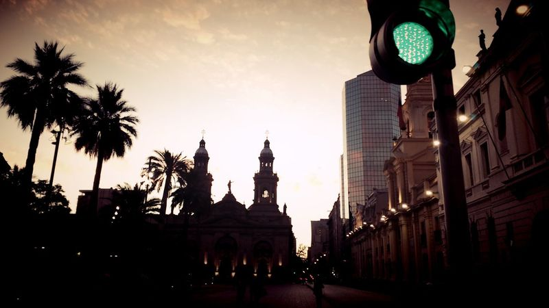 Plaza De Armas - Santiago Catedral De Santiago Catedral Atardecer Santiago De Chile Santiago Señalesdetransito Eye4photography  Eeyem Photography Streetphotography Street Shot Street Shots Eyeemphotography TakeoverContrast The City Light