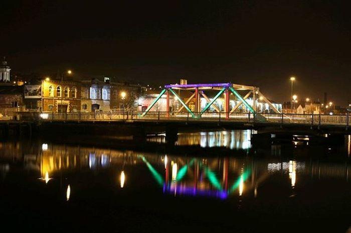 Brian Boru Bridge,Cork City Hellocork_ Itscorklike Corkcity Loves_ireland Cities By Night Insta_ireland Cork Streetphotography Ireland Bridge River Corkbynight Citylife Street Style From Around The World