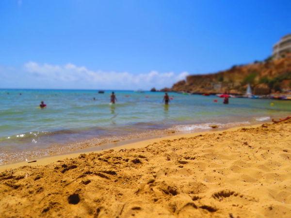Beach Faded Golden Bay Golden Sands Malta Mediterranean  Mediterranean Sea Sand Sandy Beach Sea Summer Summertime