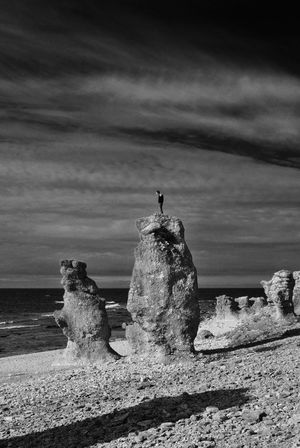 Langhammars Fårø Blackandwhite Black And White Collection  Black And White Monochrome Black & White Blackandwhite Photography Langhammarn Sea And Sky The KIOMI Collection Gotland Rocks And Water Summer Sweden