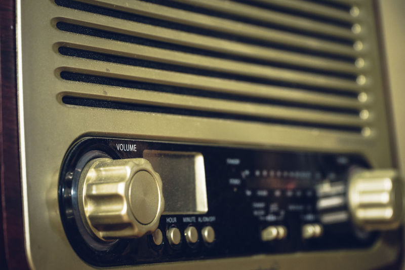 Retro Styled Indoors  No People Technology Close-up Music Radio Analogue Photography Old Old-fashioned Knob Communication Audio Equipment Equipment Arts Culture And Entertainment Number Control Analog Text Metal Speaker Electrical Equipment Push Button Amplifier Analogue Sound