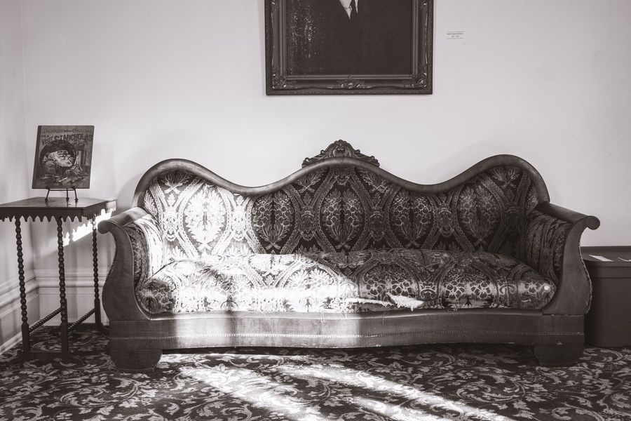 Couch Black And White Blackandwhite Furniture Furniture Photography Furniture Design Indoors  No People Home Interior Day