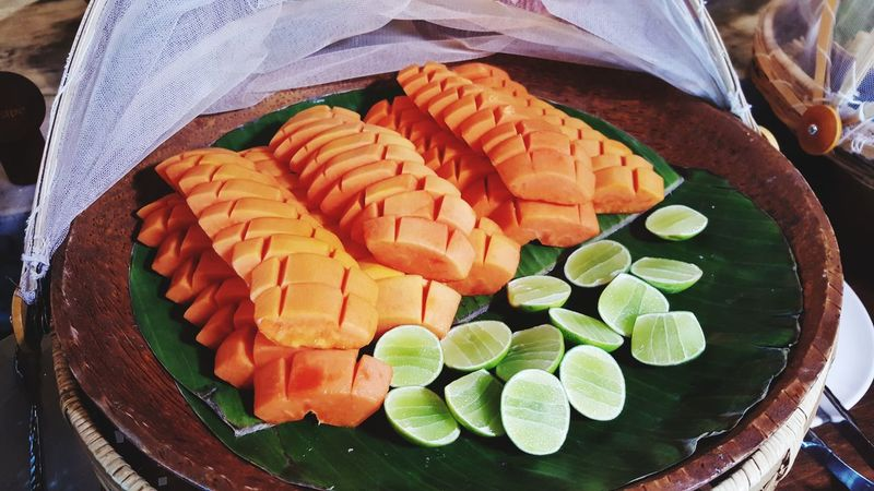 Healthy Breakfast Papaya Lime Fruit Tropical Tropical Paradise Tropical Fruit Orange Green Sweet Food Fresh Healthy Healthy Eating Healthy Lifestyle Healthy Food Asian Culture Asian Fruit Ayurvedic Holistic Pure Nature Natural Clean Eating Vegan Vegetarian Food SLICE Directly Above Close-up Food And Drink Served