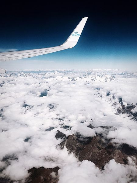 The Alps from above Airplane Nature Flying Airplane Wing Aerial View Transportation Sky Tranquil Scene No People Mid-air Air Vehicle Outdoors Cloud - Sky Blue Travel Alps Alps Switzerland Alps Italy Alps Germany KLM Airplane View Plane