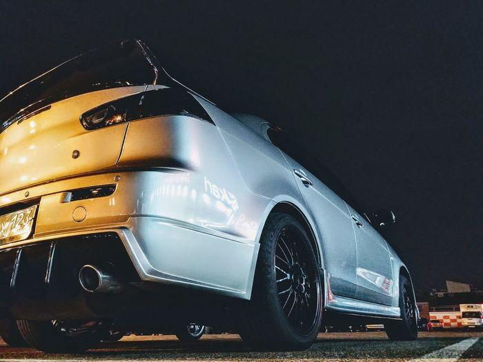 Mitsubishi EVO X Mitsubishi Evo Evo X Black Background Car Illuminated City