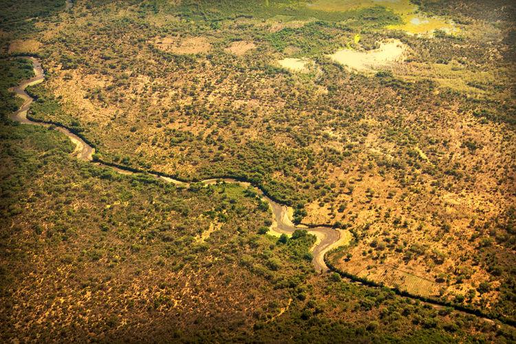 Kenya Africa Kerio Valley River Lake Nature Airial View