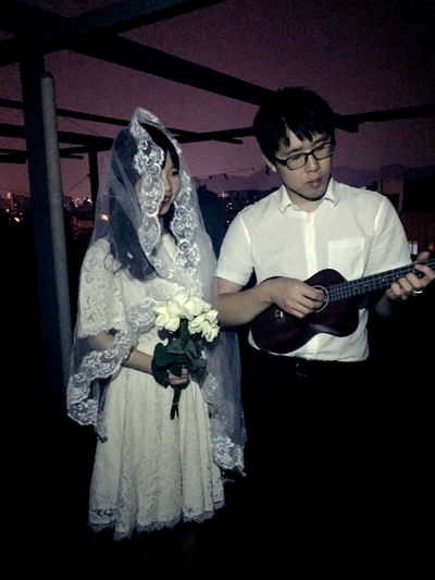 Portrait Color Portrait Couple Lovers Ukulele For The Love Of Music Love Love Song Wedding Night