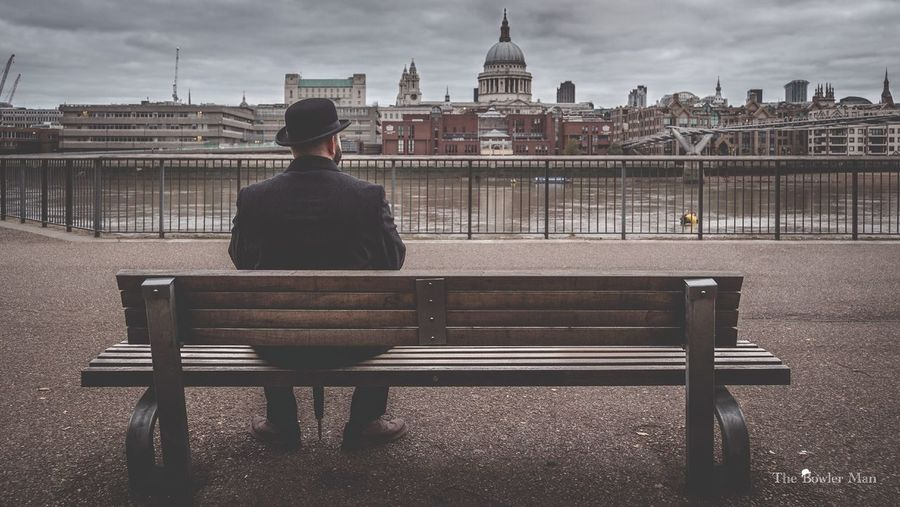 Thebowlerman Takes 5 mins to enjoy the view of St Paul's Cathedral London Enjoying Life Landscape_Collection