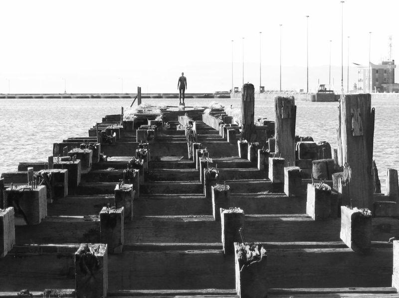 Anthony Gormley statue Leith Docks Anthony Gormley Statue
