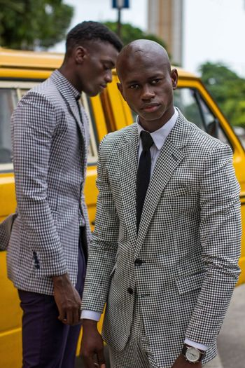 The cloth is the message while the person is the messenger. Fashion is art and I'm an artist Creativity Streetfashion Editorial  Lagos Nigeria Fashionart The Fashion Photographer - 2018 EyeEm Awards Men Males  Business Portrait Young Adult Two People Young Men People Outdoors Mid Adult Urban Fashion Jungle
