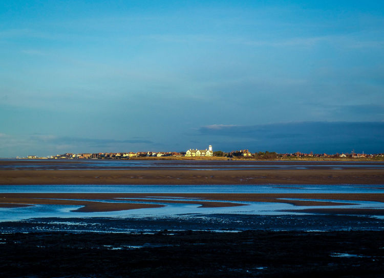 Beach Beauty In Nature Blue City Day Hoylake Landscape Landscape_Collection Landscape_photography Low Tide Nature No People Outdoors Reflection River Dee  Scenics Sea Sky Sun Sunlight Tide Water Wirral Wirral Peninsula Wirralcountrypark