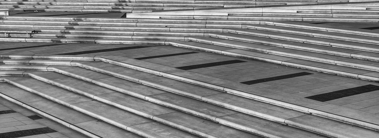 staircase Architecture Blackandwhite Built Structure Day Full Frame Hand Rail High Angle View No People Outdoors Pattern Staircase Steps Steps And Staircases