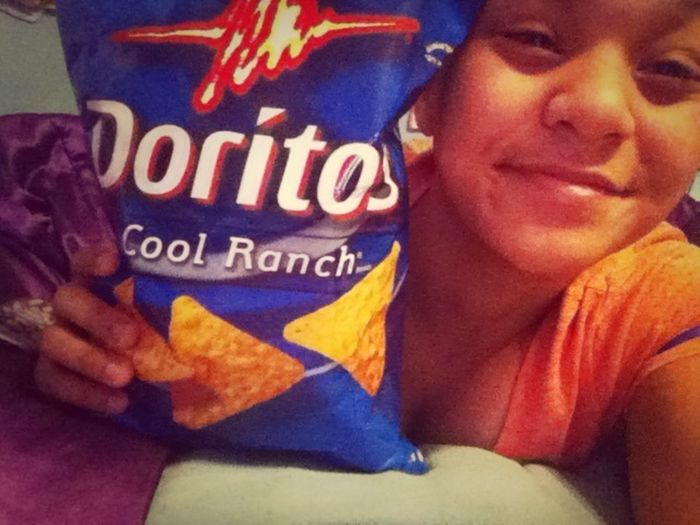 Who's gonna come eat these Doritos with me? ❤