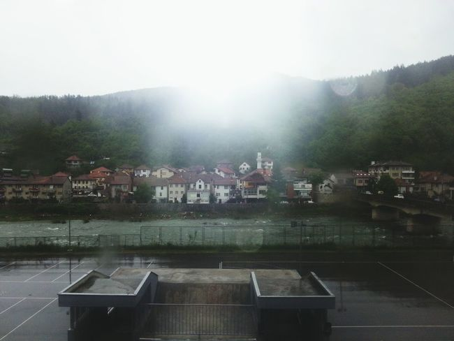 rainy and sunny day. :D photo taked from schools window. Sunshine Rain Taking Photos