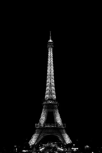 The Eiffel Tower Architecture City Dark Dream Eiffel Tower France Lights Noir Et Blanc Paris Travel Trocadero XIX Century Art Beams Blackandwhite Bw Darksky Jardinsdutrocadéro Night Pb Steel Street Streetphotography Tower Towers