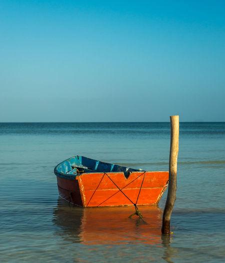 Red boat in