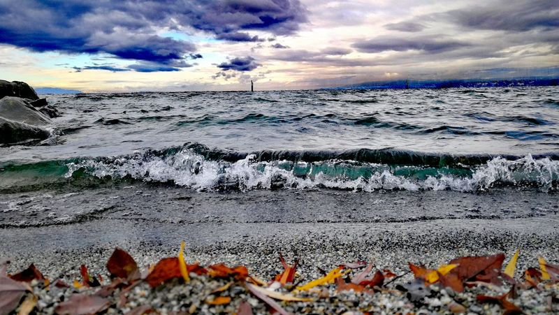 Lake View Sky Nature Water Autumn Colors Horizon Over Water Tranquility No People Huawei P10 Plus Lacleman Swisslake