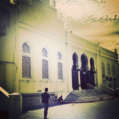 Walking around the Mosque Baiturrahman Mosque Aceh INDONESIA moment