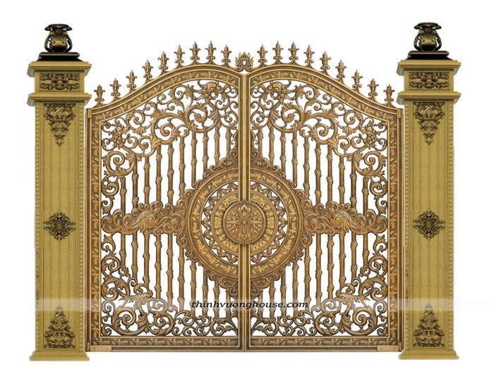 Cửa cổng biệt thự đẹp trống đồng thể hiện được phong thái của gia chủ với các chi tiết tượng trưng cho sự yên bình, no ấm và không ngừng phát triển. http://thinhvuonghouse.com/san-pham/cua-nhom-duc-trong-dong-trung-tam Cửa Cổng Biệt Thự