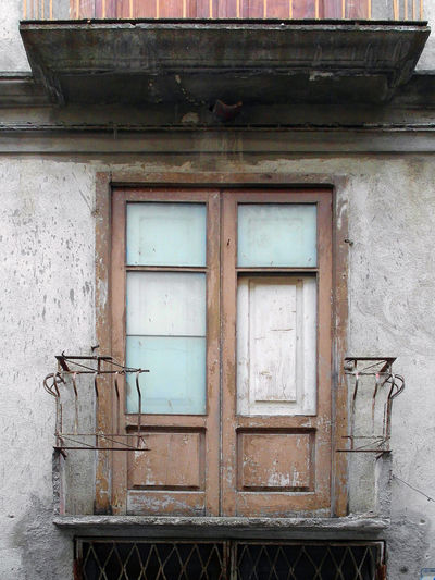 Window and balcony Italia Old Town South Italy Architecture Balcony Building Exterior Built Structure Calabria Close-up Door Outdoors Verbicaro Weathered Window Wood - Material