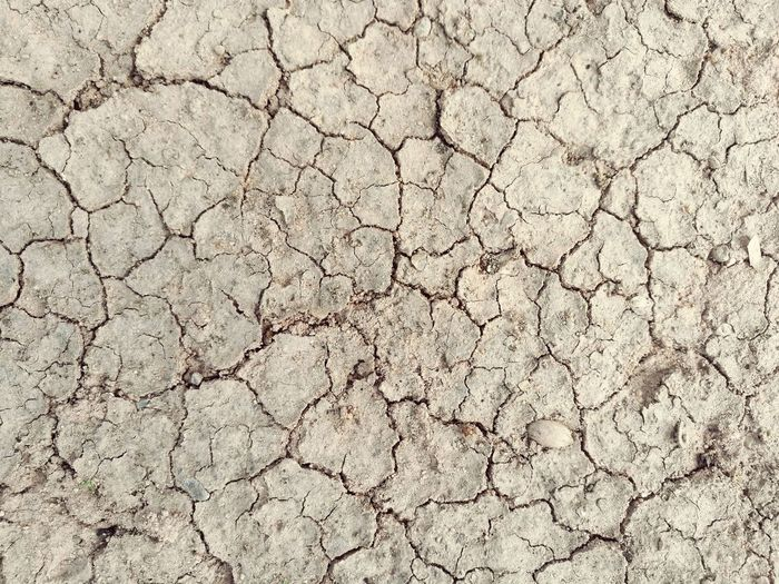 Cracked Textured  Backgrounds Pattern Full Frame No People Nature Arid Climate Summer Outdoors Dry Hot Day