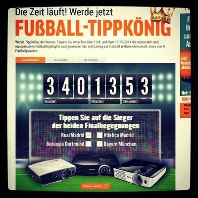 Tippe wer das DFB-Pokal- und Champions-League-Finale gewinnt und sahne fette Preise ab! http://www.notebooksbilliger.de/beamer/gewinnspiel+tippkoenig+beamer