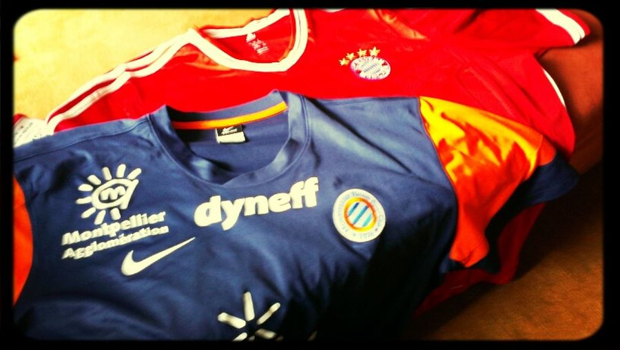 My favorites Football-Clubs !!!! the Montpellier Hérault S.C. and FC Bayern München !!! FC Bayern Fans Trikot MHSC