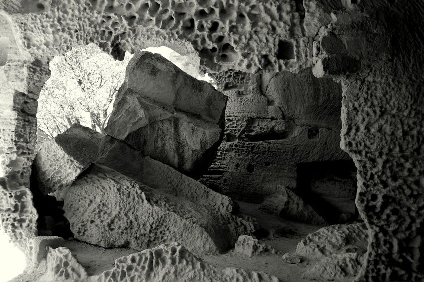 Black & White Black And White Black And White Photography Blackandwhite Blackandwhite Photography Damaged Eye4photography  EyeEm Best Shots Eyeem Black And White EyeEm Black&white! EyeEm Gallery EyeEmBestPics Focus On Foreground France Les Baux De Provence Lesbauxdeprovence Memories Provence Rock Formation Stone - Object Stone Material Stone Window Frame The Week On EyeEm Tranquility Weathered Monochrome Photography