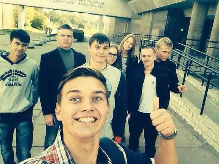 Taking Photos Hello World Selfie Students