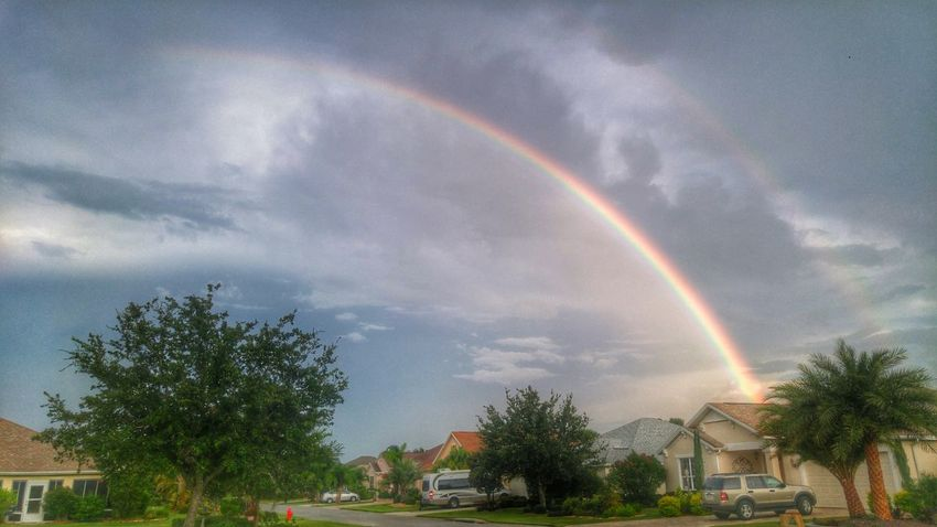 Rainbow over florida Rainbow Rainbows Beauty In Nature Clouds And Sky Cloud - Sky Beautiful Nature Orlando Florida Messages To Heaven Prayfororlando Rainbow Colors Florida Sky Colors