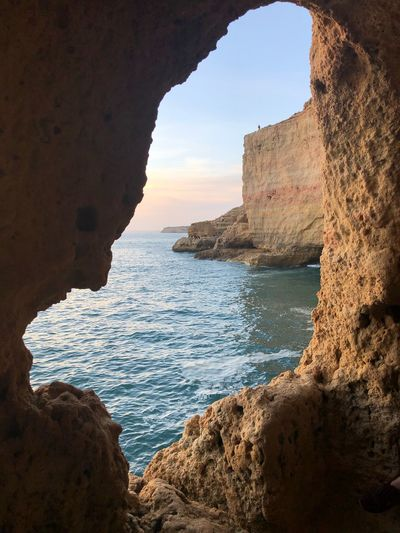 No title Algarve EyeEmNewHere Naturephotography Visitportugal Portugal Applephotography Apple IPhoneography IPhoneX Iphonexphotography EyeEm Selects Water Sea Rock Rock - Object Solid Sky Beach Nature Horizon Over Water