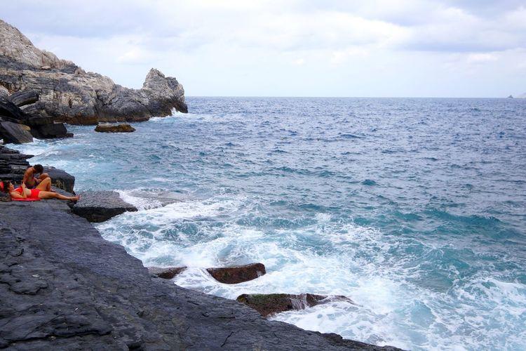 EyeEm Selects Wave Water Sea Beach Sky Horizon Over Water Rocky Coastline Coast Rock Formation Seascape Rocky Mountains Cliff