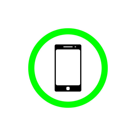 Allow using smart phone sign flat icon. talking and calling icon illustration Area Button Cellphone Green Icon Mobile Phone Screen Sign Banner Call Cellular Circular Communication Digital Domestic Animals Label Phone Ring Signboard Smartphone Symbol Talk Telephone Use Zone