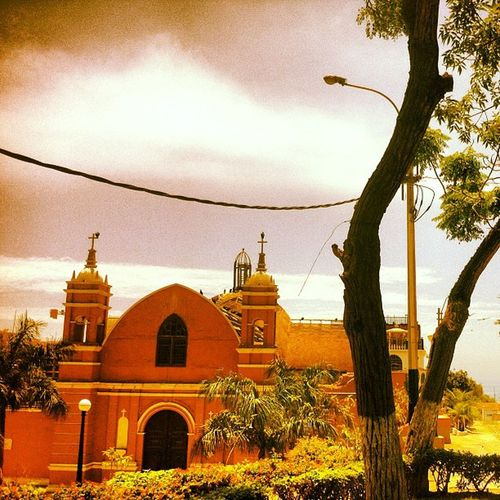 Barranco Lima Peru Barranco Church trees sky