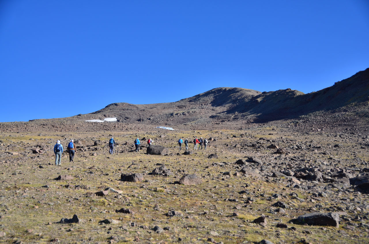 Mount Aragat Aragat Armenia Hiking September Beauty In Nature Climate Copy Space Day Environment Group Of People Land Landscape Leisure Activity Medium Group Of People Mountain Nature Non-urban Scene Outdoors Real People Sky Travel Destination View Into Land W-armenien Walking