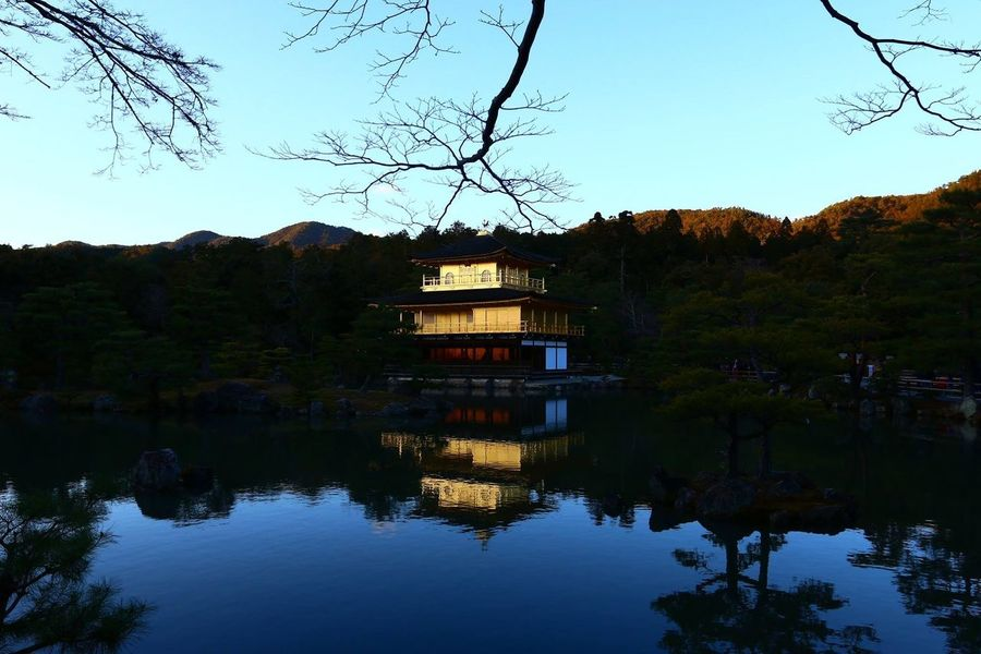 Kinkakuji or the golden pavilion in kyoto Gold Golden Pavilion  Japan