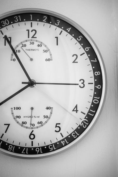 Five to eight Clock Clock Face Close-up Day Indoors  Minute Hand Monochrome Photography No People Number Time Vertical