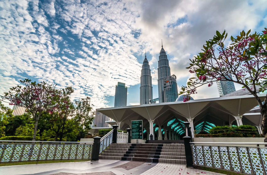 tallest building Arch Asian  City Center Cloud Icon Iconic Buildings Kuala Lumpur Malay Malaysia South East Asia Tallest Building Tower Traditional Culture Urban
