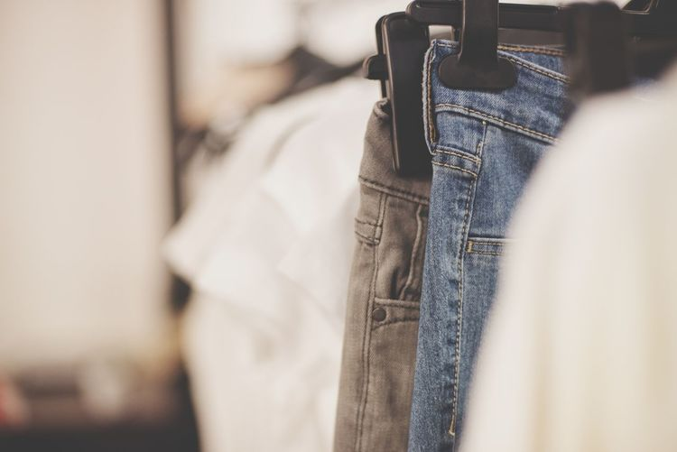 it's inn the jeans Blue Jeans Jeans Textile Textile Design Clothing Sewing Textile Indoors  Fashion Business Finance And Industry Close-up Coathanger No People Hanging EyeEmNewHere
