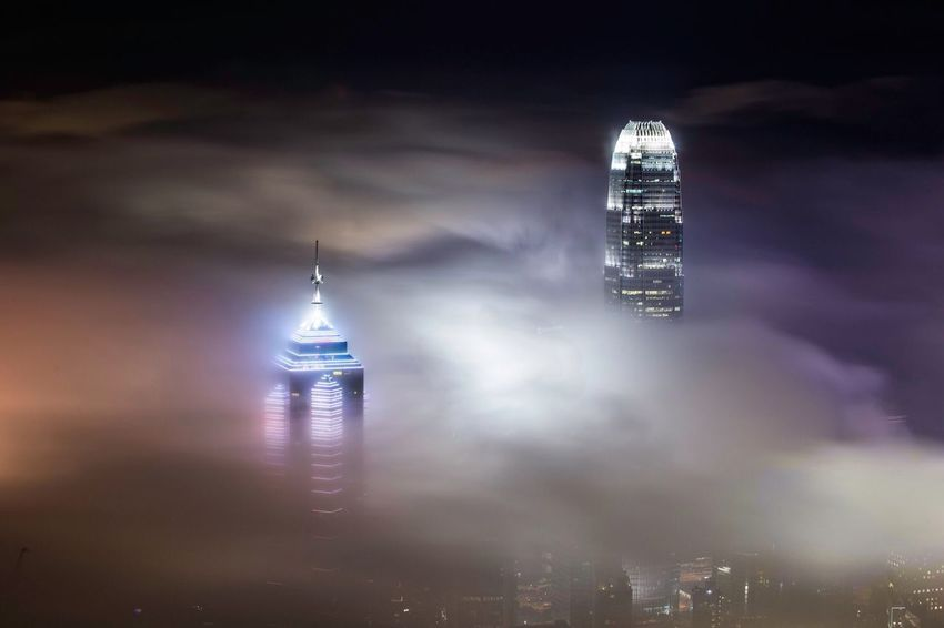 Photography Night Clouds And Sky Cityscapes HongKong Hong Kong