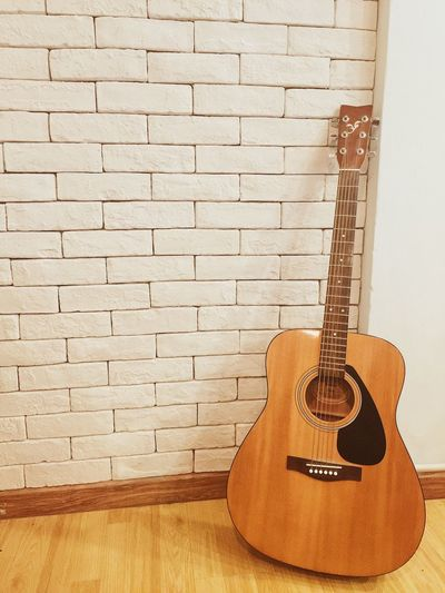 Music Musical Instrument Arts Culture And Entertainment Guitar Brick Wall Musical Instrument String Indoors  Jazz Music Day